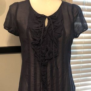 Banana Republic Navy Sheer Top